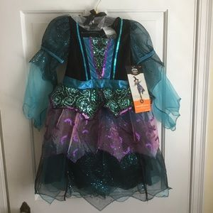 Little girls Witch Halloween Costume Small 4-6x